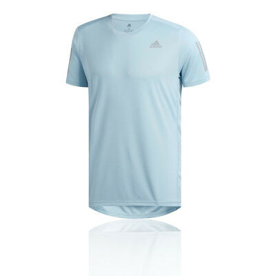 adidas Mens Own The Run Tee Blue Sports Running Breathable Reflective