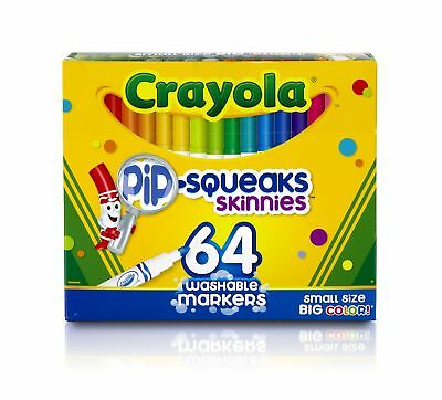 Crayola Skinnies Markers 64 Washable Colours Art & Craft Colouring FAST DISPATCH