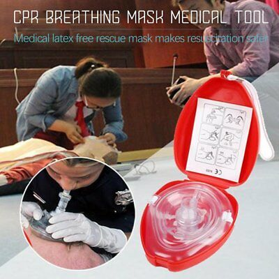1 Pocket CPR Mask hard case Resuscitation Face Shield First Aid Kit Emergency RM