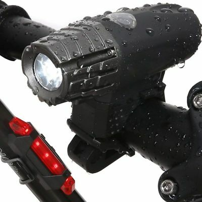 1X(Luz trasera de bicicleta Faro - LED intermitente frontal recargable USB ciS7)