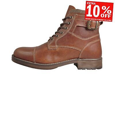 Red Tape Hawthorne Men's Real Leather Casual Chukka Ankle Buckle Boots Brown