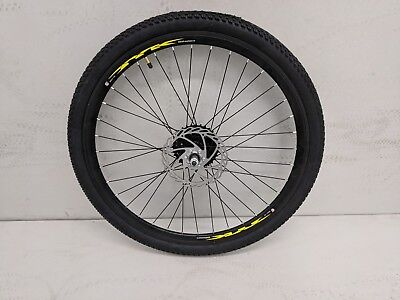 """26"""" complete rear wheel with tyre, 8 speed Shimano cassette ,160mm disc rotor"""