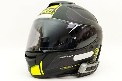 Casque Moto Integral Shoei Gt Air Txl 61cm Noir Jaune Intercom