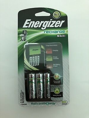 Energizer Recharge Maxi Brand New & Sealed AA AAA CHVCM4 Batteries Rechargeable