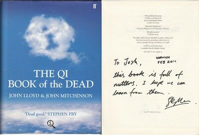 The QI Book of the Dead - John Lloyd - First Edition First Printing - SIGNED ...
