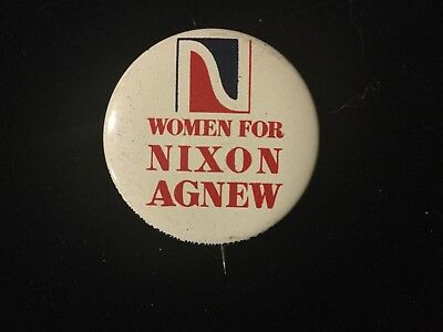 Women For Nixon-Agnew 1 1/2 Inch Button Box 9