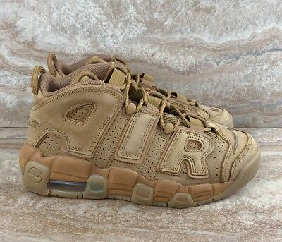 san francisco 470ef 6fdc4 Nike Air More Uptempo SE  96 Flax Wheat Gum Brown GS Shoes