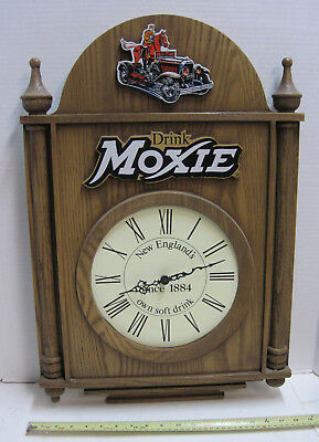 Vintage Drink Moxie Horsemobile Battery Wall Clock New England's Soft Drink rare