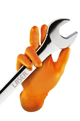 Connect 37302 Grippaz Extra Large Orange Nitrile Gloves Box of 50