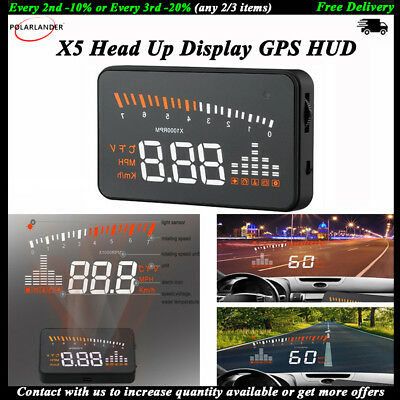 GPS Head Up Display Car HUD Speed Alarm Warning System Styling Speedometer OBD2