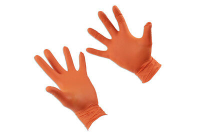 Connect 37301 Grippaz Large Orange Nitrile Gloves Box of 50