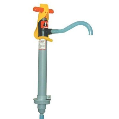 """6oz 12"""" Dairy Chemical Drum Pump with 2"""" Standard Adapter & Lock 5 Gallon"""