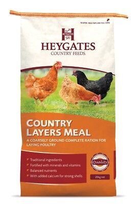 Heygates Country Layers Meal Chickens Poultry Feed 20Kg *free P&p*