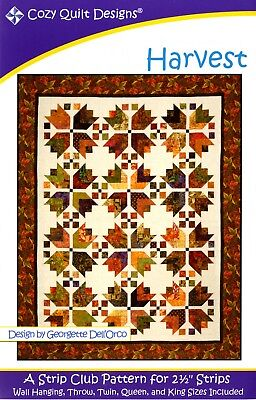 Harvest Pattern by Cozy Quilt Designs - Jelly Roll & Scrap Friendly