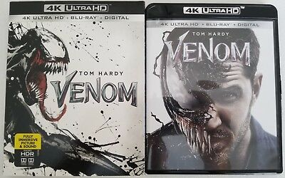 Venom 4K Ultra Hd Blu Ray 2 Disc Set + Slipcover Sleeve Free Worldwide Shipping