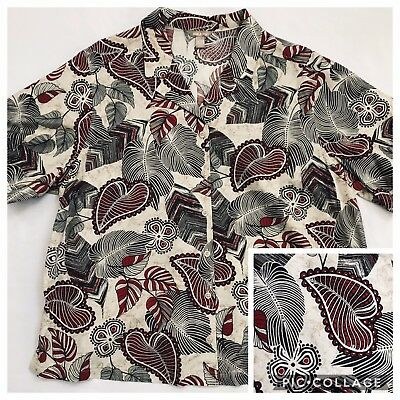f0a0be33402 White Stag Women s Olive Floral Short Sleeve Button Blouse Shirt ~ 4X 26W  28W