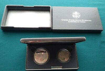 U.S Mint 1991 Mount Rushmore Anniversary 2 Coin Proof Set  #658