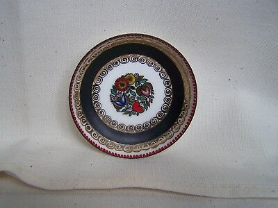 Vintage Colorful Heart and Flowers SMALL DISH Handmade Hand Painted in AUSTRIA