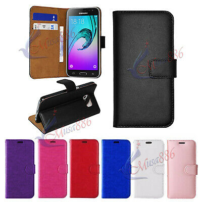 Case For Samsung Galaxy J3/J3 2016 Luxury Genuine Real Leather Flip Wallet Cover