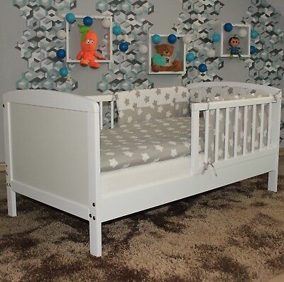 JUNIOR TODDLER BED 120x60cm + BEDDING + OPTONAL MATTRESS BEST PRICE 6 COLOURS