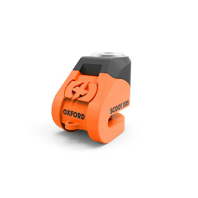Oxford Scoot XD5 Scooter disc lock (5mm pin) Orange Free Minder Cable