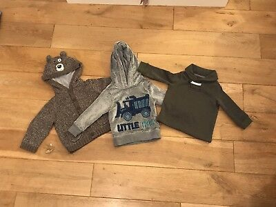 Oshkosh Baby Boy Winter Clothes Jumpers Bundle 9-12-18 Months