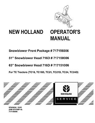 *New Holland TC21 Tractor Operators Owners Manual 86597082 Issued 1999 nh book