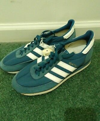 4bcfa37673872b Vintage 70s 80s Adidas Seattle Sneakers Shoes Size 7.5 Rare DEADSTOCK NWT