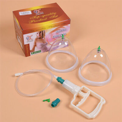 1 Pair Suction Therapy Device Large Size with the Gun Breast Buttocks Suction