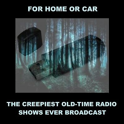 The Creepiest Old Radio Time Horror Shows Ever Broadcast. For Your Home Or Car!