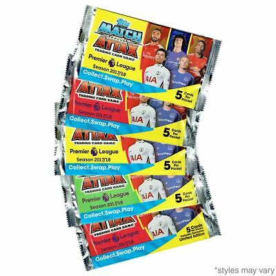 Match Attax Trading Cards 2017/18 Season 5 Packs Of 5 Cards NEW