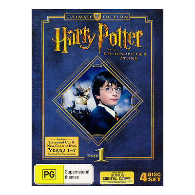 Harry Potter And The Philosophers Stone Ultimate Edition DVD Brand New 4 Discs