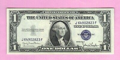 $1 1935B Crisp One Dollar Blue Seal US Silver Certificate Currency Note Bill