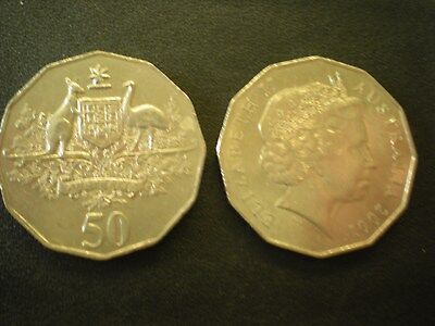 2001 Circulated 50c Fifty Cent Australian Coin Centenary of Federation -