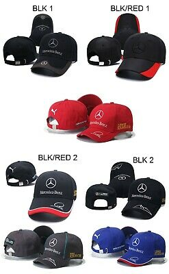 Mercedes Benz Amg Petronas Lewis Hamilton Autograph Hat.available In 7 Colors