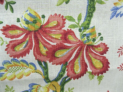 Duralee Fabrics Pattern Lavinia 24 In x 54 In Linen Blend Whimsical Floral