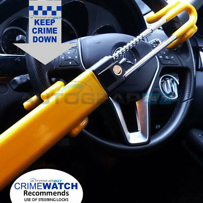 For Mercedes Twin Bar High Security Double Claw Steering Wheel Lock. SWTBL-Merc