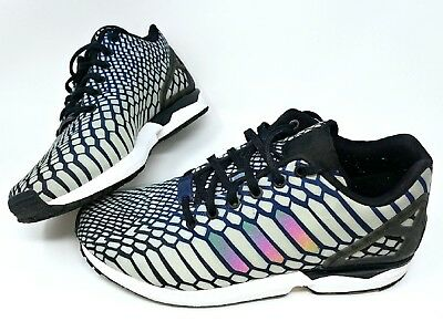 newest e6a9e 6de5b ADIDAS ZX FLUX Xeno Glow In The Dark mens Shoes AQ4534 Mens 8.5 scales snake