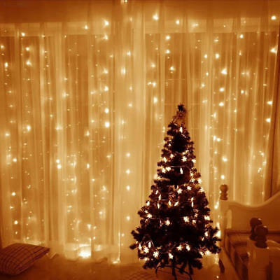 9571 300 LED curtain Lights Xmas Party Wedding Fairy Garden String Light 3*3m