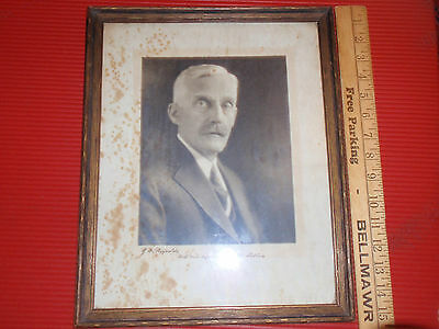 Antique Andrew Mellon Signed Picture Framed