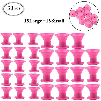 Hair Curlers Silicone 30 pcs No Clip Hair Styling Rollers