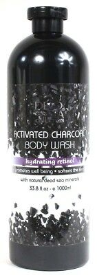 1 Dead Sea Collection 33.8 Oz Activated Charcoal Hydrating Retinol Body Wash