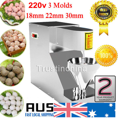 Stainless Steel Meatball Making Machine Meat Grinders Meatball Maker w/ 3 Molds