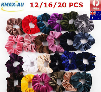 12/16/20 PCS Pack Velvet Elastic Hair Bands Scrunchies Scrunchy Women Girls
