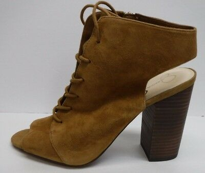 c728f513af4 Jessica Simpson Size 8.5 Honey Brown Suede Ankle Booties New Womens Shoes