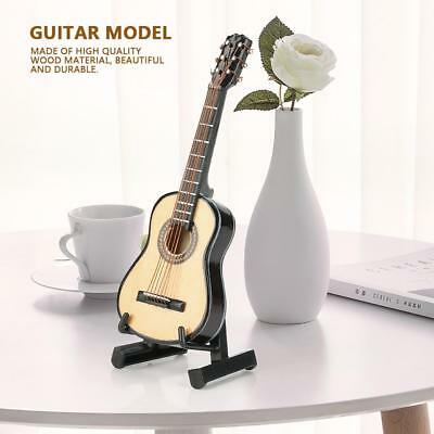 Mini Wood Classic Guitar Model Musical Instruments Decors Gifts With Stand & Box