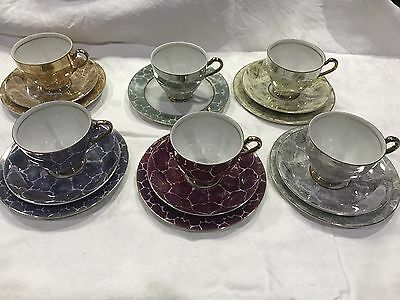 Fine China Japan #766 - 17 Pieces  - Vintage  - Cups,  Saucer And Cake Plate