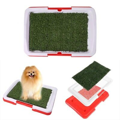 Pet Dog Home Potty Toilet Urinary Trainer Grass Mat Pad Patch Indoor Outdoor