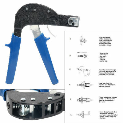 Hollow Cavity Wall Anchor Hole Plasterboard Fixing Metal Setting Tool Best Price