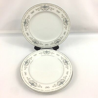 "Fine China Japan, 10"" Dinner Plate, Diane Pattern, Platinum Edge Replacement"